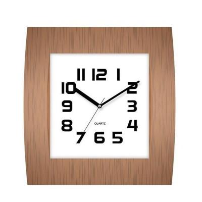 Ceas de perete Patrat cu aspect Lemn KLJ7038