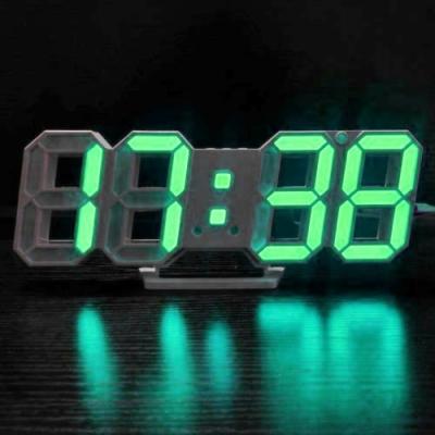 Ceas Digital de Birou Afisaj Data, Ora si Temperatura DS6609 Verde