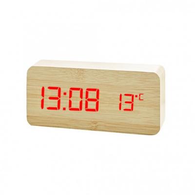 Ceas Digital de Birou Aspect Lemn USB Data Ora si Temperatura VST862