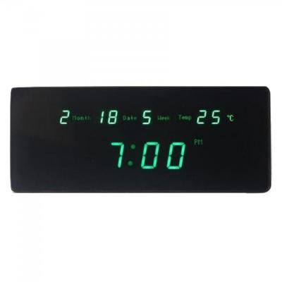 Ceas Digital de Perete Afisaj Data, Ora si Temperatura TL2510 Verde