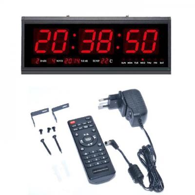 Ceas Electronic 220V Afisaj Rosu cu Cronometru si Telecomanda TL4819