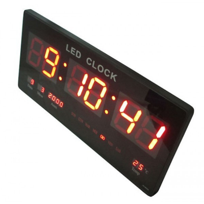 Ceas Electronic Digital Slim de Perete 4600, cu Display Rosu 7cm