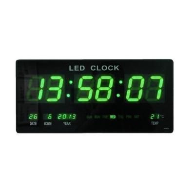 Ceas Electronic Digital Slim de Perete 4600, cu Display Verde 7cm