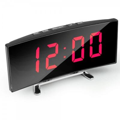 Ceas Oglinda Digital de Birou tip LCD LED la USB DT6507 Lumina Rosie