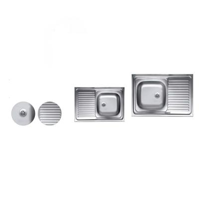 Chiuveta Inox 430 masca anticalcar Sanitec C408 435x760mm