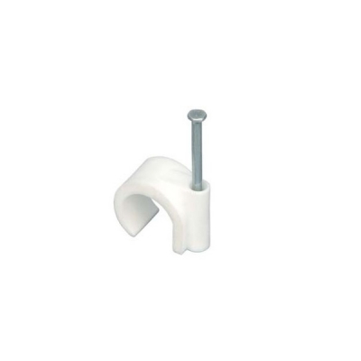Clema Cui 10mm cu Clip Rotund Cleme Fixare Cabluri Set 100