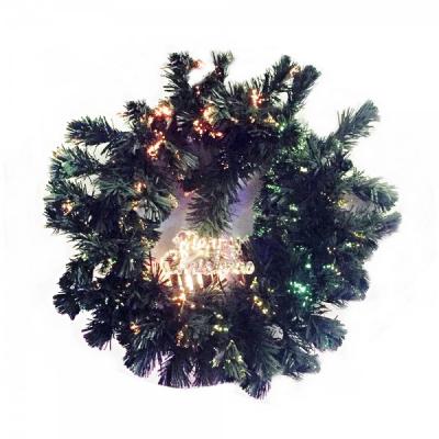 Coronita Craciun Brad Artificial Fibra Optica Merry Christmas 50cm 220V