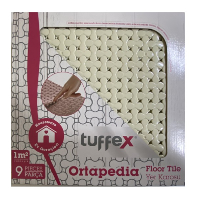 Covoras Baie tip Puzzle 9 piese 1mp Tuffex TP8032 Crem JU