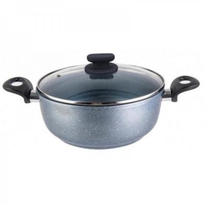 Cratita Aluminiu Strat Ceramica, Capac 4l 24x10cm Grunberg GR3205
