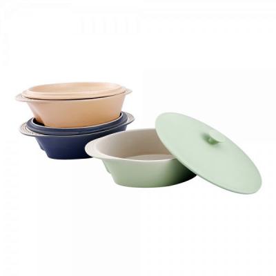 Cratita Ceramica Ovala cu Capac 2.4L Vabene VB6020064