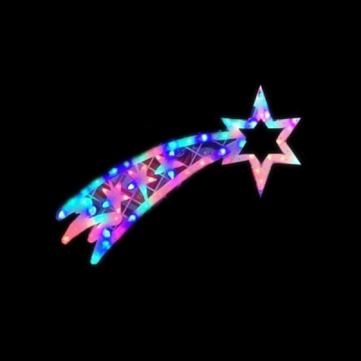 Decoratiune Luminoasa de Craciun Cometa 75x20cm LEDuri Multicolore