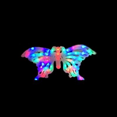 Decoratiune Luminoasa de Craciun Fluture 54x25cm LEDuri Multicolore TO