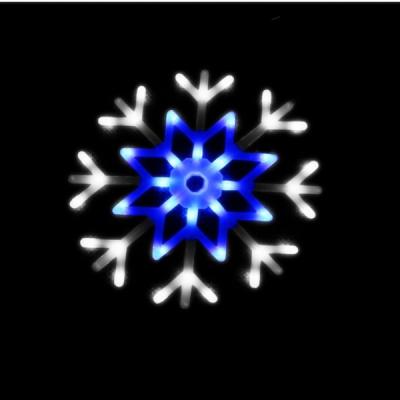 Decoratiune Luminoasa de Craciun Fulg de Nea 40cm LED Alb Albastru TO