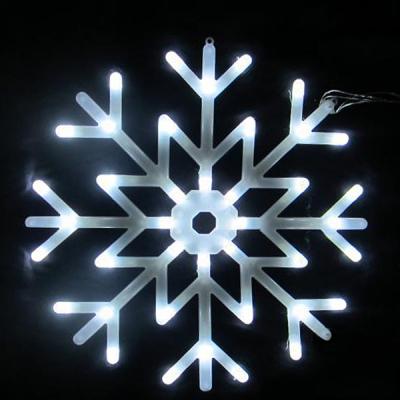 Decoratiune Luminoasa de Craciun Fulg de Nea 40cm LED Alb Rece TO