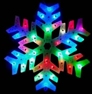 Decoratiune Luminoasa de Craciun Fulg de Nea 40cm LEDuri Multicolore