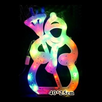 Decoratiune Luminoasa de Craciun Om de Zapada 40cm LEDuri Multicolore