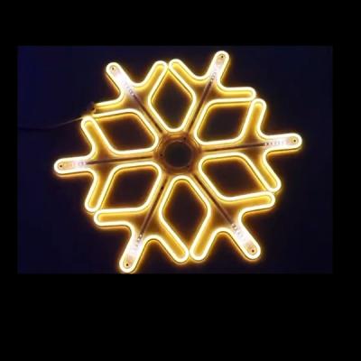 Decoratiune Neon LED Joc DIGITAL 2 Fete Fulg Nea 60x60cm Alb Cald