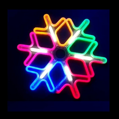 Decoratiune Neon LED Joc DIGITAL 2 Fete Fulg Nea 60x60cm Multicolor
