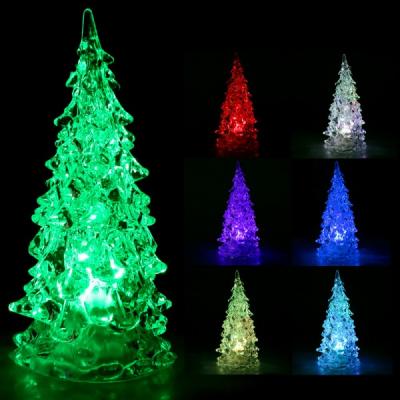 Decoratiuni Craciun Bradut Luminos Acril cu LEDuri Multicolore 20cm