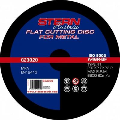 Disc abraziv pentru polizor unghiular Stern G23020 230x2.0mm