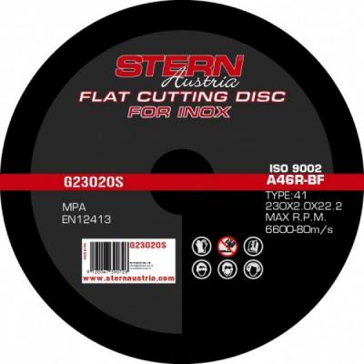 Disc abraziv pentru polizor unghiular Stern G23020S  230x2.0mm