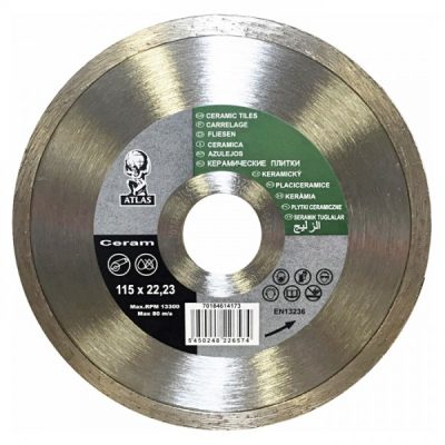 Disc debitat placi ceramice diamantat Atlas Ceramic 115x22.23mm