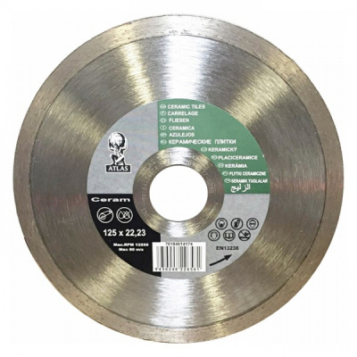 Disc debitat placi ceramice diamantat Atlas Ceramic 125x22.23mm