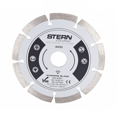 Disc diamantat D125S Stern  taiere uscata 125 mm