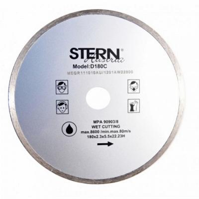 Disc diamantat taiere umeda 180mm Stern D180C