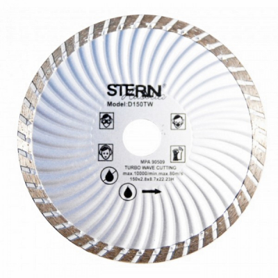 Disc diamantat turbo taiere umeda si uscata 150mm Stern D150TW