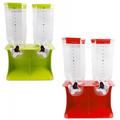 Dispenser Pentru Cereale Dublu 41x27.7cm 2x200gr Div. Culori
