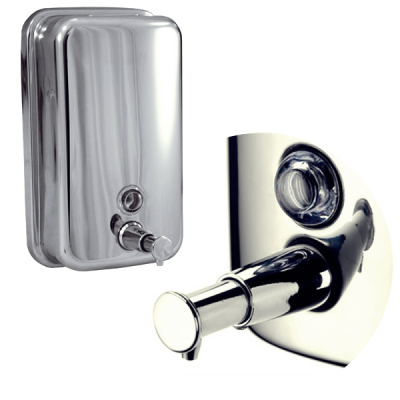 Dozator manual sapun lichid din otel inoxidabil 800ml Trendy's DZ800L