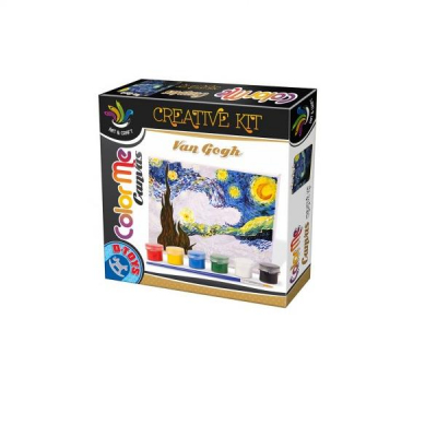 DToys Set Creativ de Pictura Color Me Canvas Van Gogh Starry Night