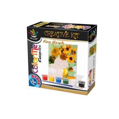 DToys Set Creativ de Pictura Color Me Canvas Van Gogh Sunflowers