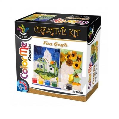 DToys Set de Pictura Color Me Van Gogh The Church At Auvers Sunflower
