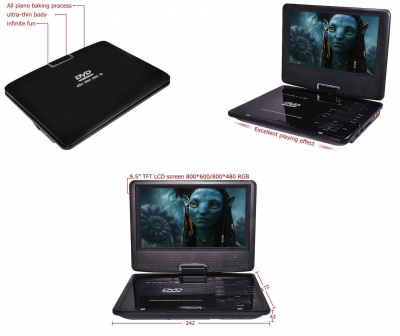 Dvd player portabil NS960