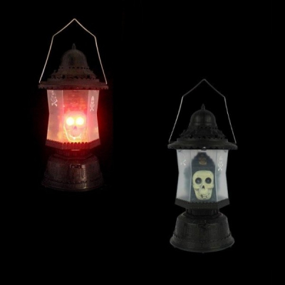Felinar Halloween Craniu cu Lumini si Sunete Infricosatoare