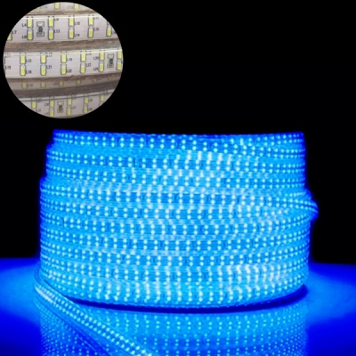 Furtun Luminos cu Banda 24000 LEDuri SMD3014 Albastre Rola 100m TKO