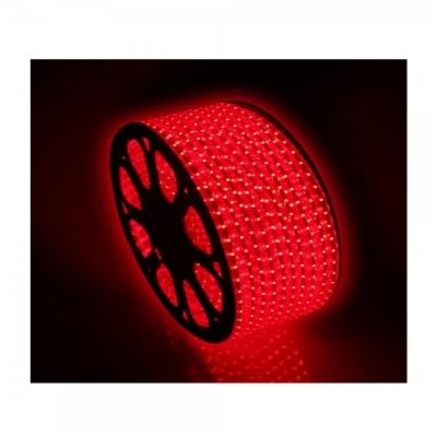 Furtun Luminos cu Banda 6000 LEDuri SMD5050 Rosu Rola 100m CL