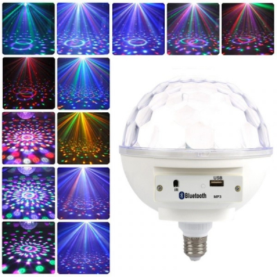 Glob Disco Bec E27 Jocuri de Lumini MP3 Player Bluetooth
