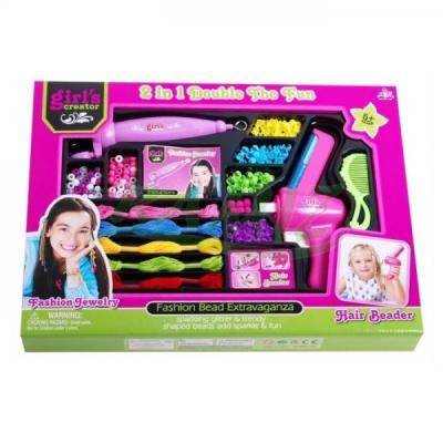 Hair Beader Set Bilute de Par cu Aplicator MBK206