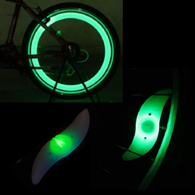 Hot Wheels LED Verde Decorativ pentru Spite Bicicleta