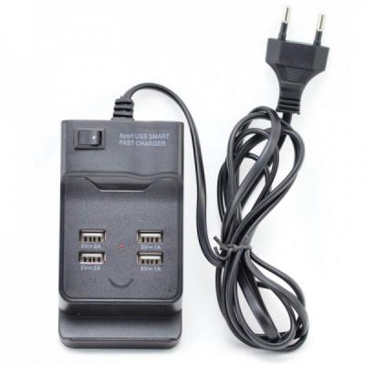 Incarcator Retea 220V cu 4 Porturi USB 5V 6A Negru sau Alb