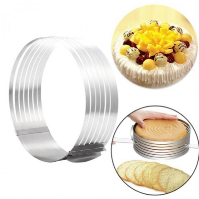 Inel Feliator Blat de Tort Ajustabil Cake Ring 8cm 24-30cm L