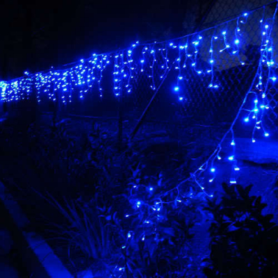 Instalatie de Craciun 48 Franjuri Inegali 8.5m 300 LEDuri Albastre