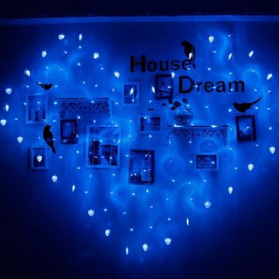 Instalatie de Craciun Perdea Inima 2x1.5m 78LED FI P 6009 Albastru