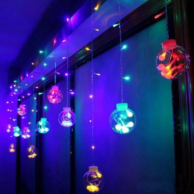 Instalatie Ghirlanda 12Globuri Luminoase Multicolor 3x1m 108LED P FI MRL