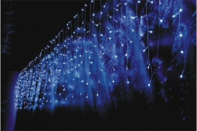 Instalatie Luminoasa Perdea cu 20 Franjuri 220 LEDuri Lumina Alba 3x0.9m