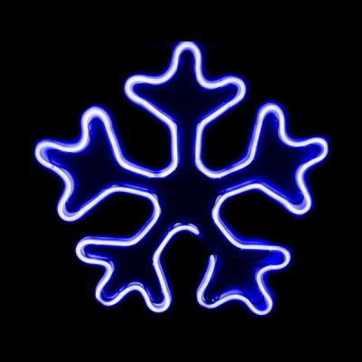 Instalatii de Craciun Neon 2 Fete Fulg de Nea 45x45cm Albastru 9703