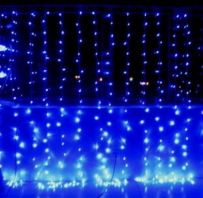 Instalatii Craciun Perdea Prelungibila 3x1.8m 220LED Albastre TO300